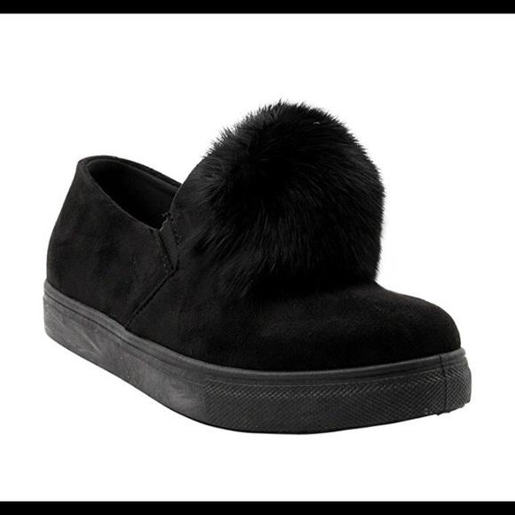 6d4d6fd6871 G.N.D. Shoes - Nordstrom G.N.D. Black suede Pom Pom slip on 8